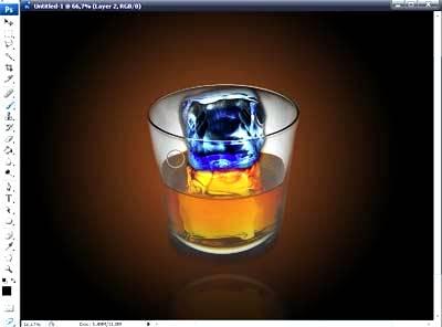 Создаем синий лед используя Фотошоп