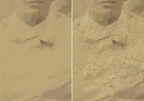 Удаляем трещины со старого фото в Фотошопе
