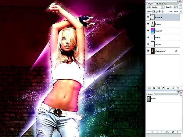 Создаем светящиеся линии и эффекты свечения в Фотошопе