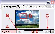 Панель навигации в Фотошопе
