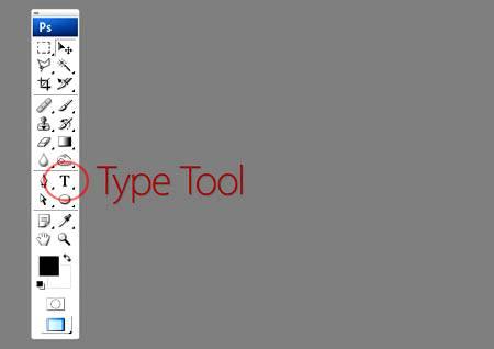 Расположение «Type Tool» (Инструмент «Текст») на примере Photoshop CS4