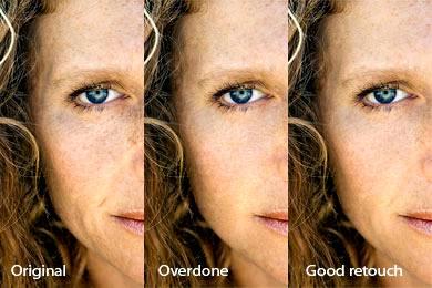 Как не рекомендуеться ретушировать в Фотошопе