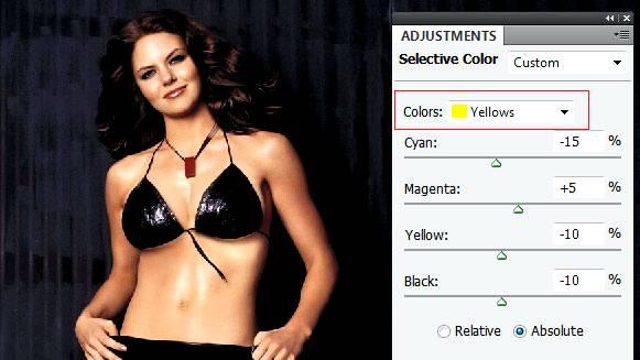 Описание работы «Выборочной коррекции цвета» (Selective Color)