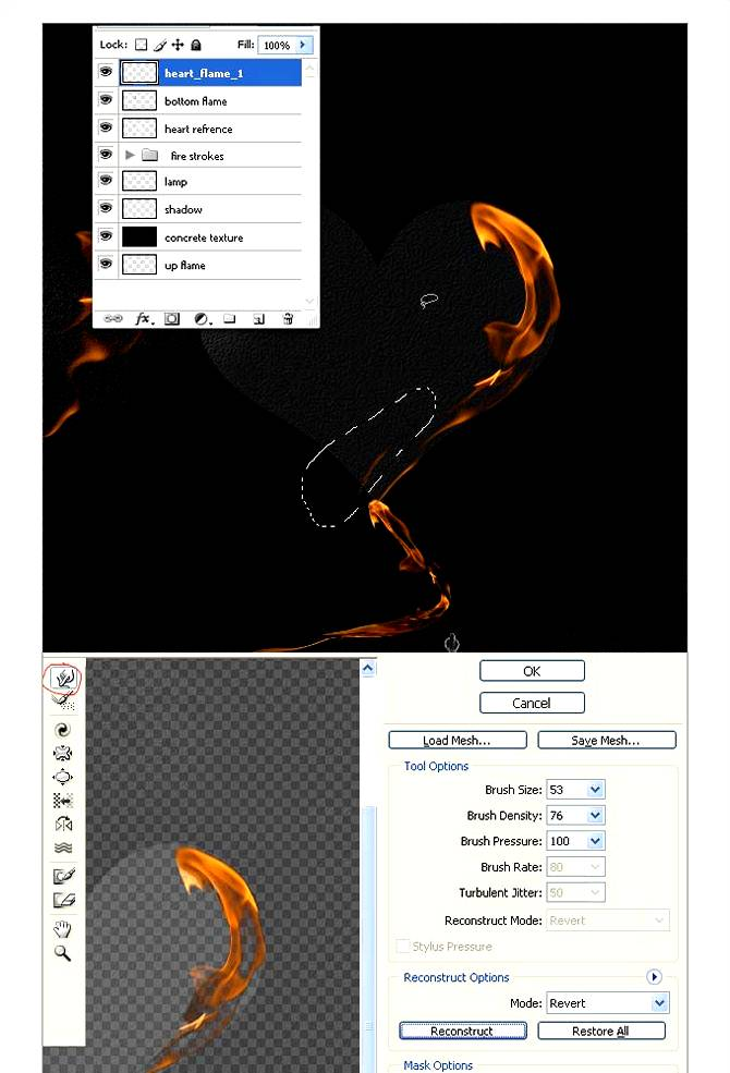 Инструмент деформация (warp) в Фотошопе