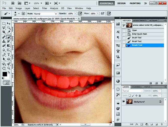 Как отбелить зубы на фото в Фотошопе