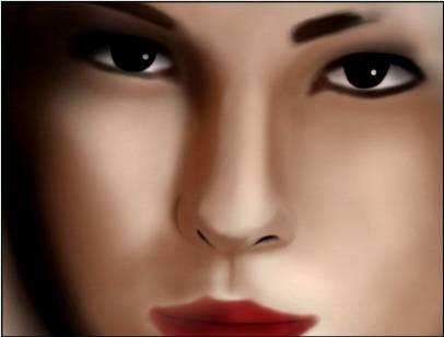 Процесс рисования портрета по фотографии используя Фотошоп