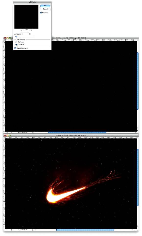 Создание красивой рекламы: эффект искр в Фотошопе
