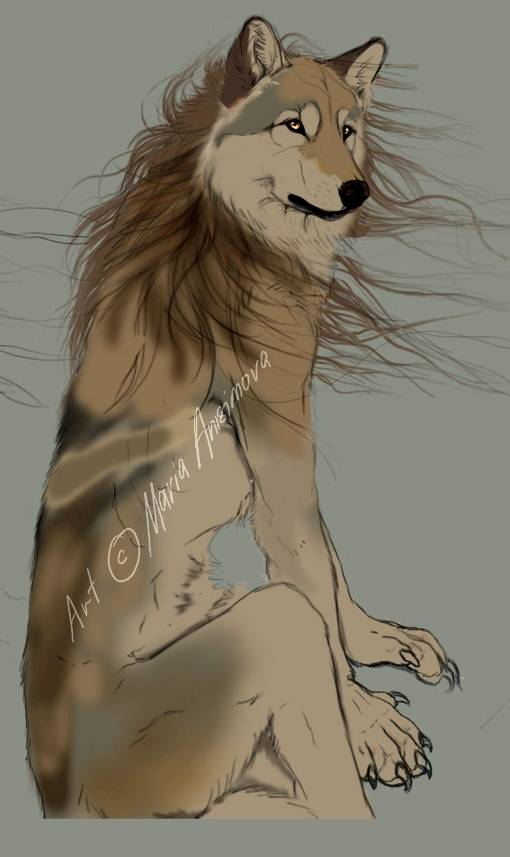 Процесс рисования картины «Волк: Ветреный день» в Фотошопе