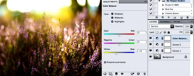 Добавляем эффект золотого заката на фото используя Фотошоп