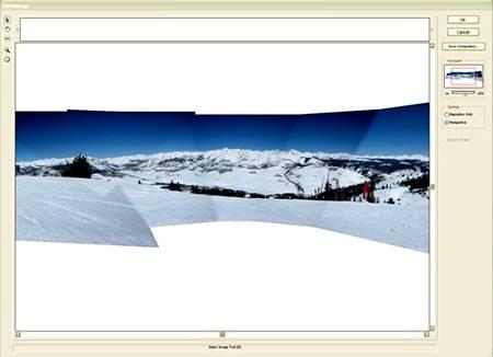 Просмотр через функцию «Photomerge - Perspective» (Photomerge - Перспектива) на примере Photoshop CS5.