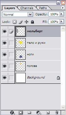 Получаем 5 слоев на данном изображении в Photoshop CS3