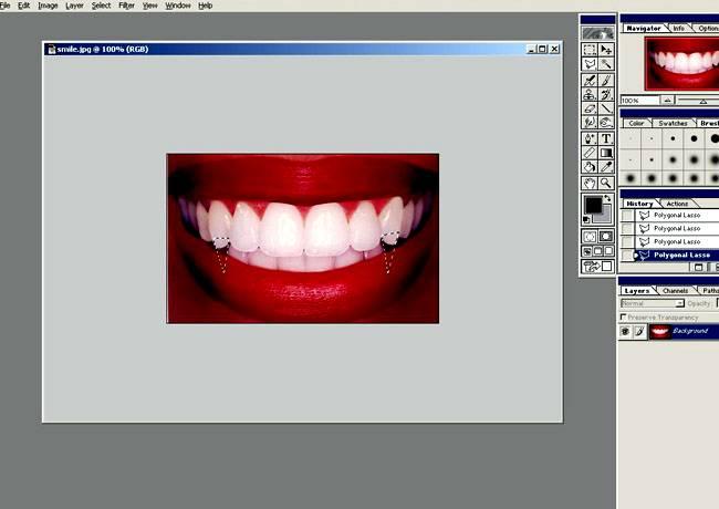 Создаем клыки вампира используя Фотошоп