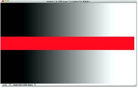 Простой градиент, разделенный красной полосой.