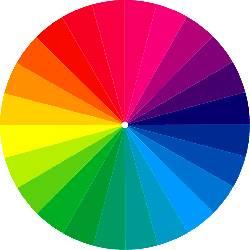 Большой цветовой круг Освальда.