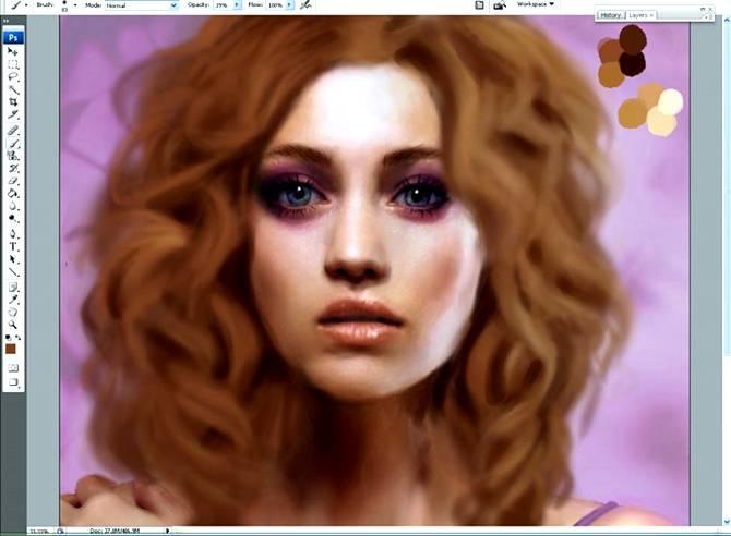 Рисуем волнистые волосы. Секреты и текстурирование.
