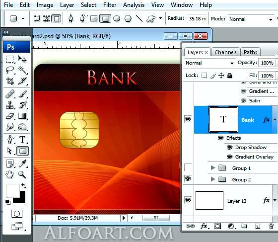 Рисуем реалистичную кредитную карту используя Фотошоп