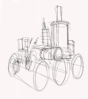 Как рисовать машины в стиле паропанк - стимпанк