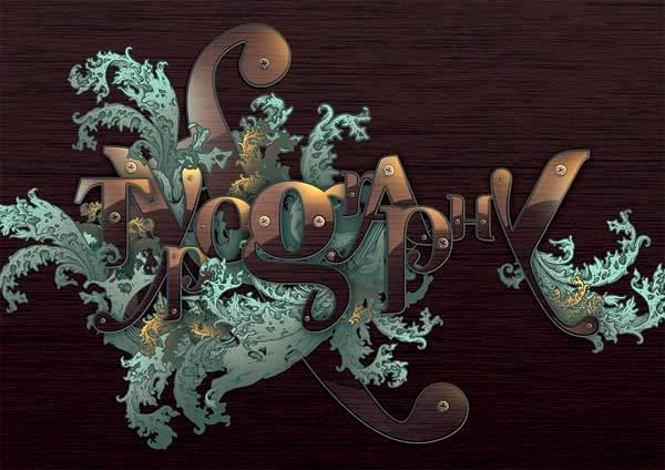 Создаем типографическую иллюстрацию с декоративным узором в Фотошопе