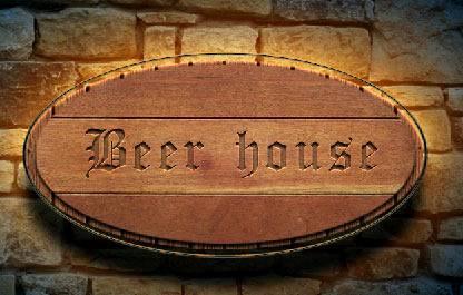 Создаем стильную вывеску пивной «Beer House» используя Фотошоп