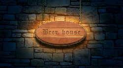 Создаем стильную вывеску пивной «Beer House»