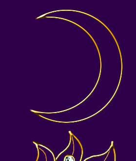 Процесс рисования золотой подвески «День и ночь» в Фотошопе