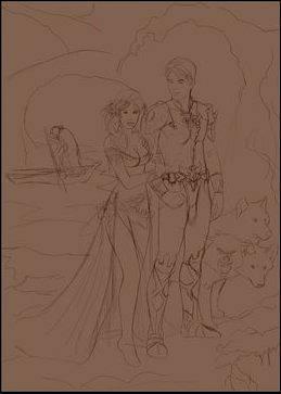 Процесс создания картины «Аид и Персефона» в Фотошопе