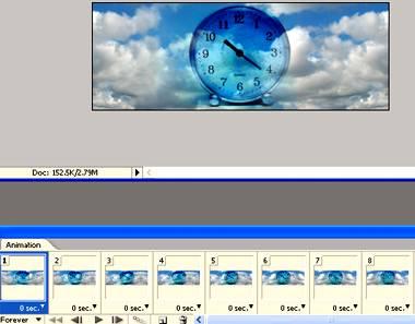 Создаем анимацию плывущих облаков используя Фотошоп