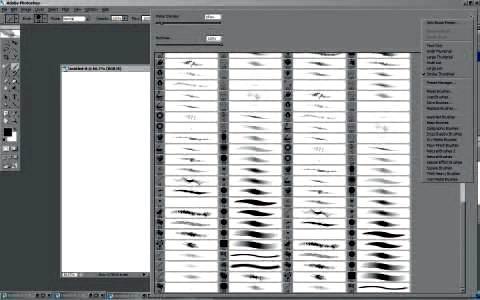 Настраиваем и создаем кисти, для рисования графики в Фотошопе