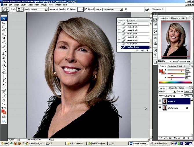 Как сделать моложе человека на фото используя Фотошоп