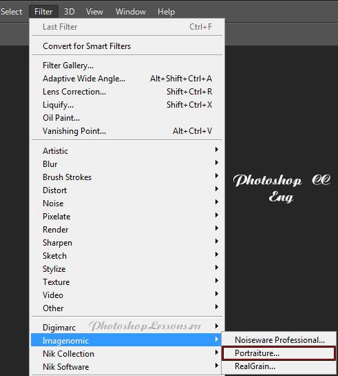 Перевод Filter - Imagenomic - Portraiture (Фильтр - Imagenomic - Portraiture) на примере Photoshop CC (2014) (Eng)