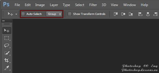 Перевод Move Tool - Auto-Select: Group (Инструмент «Перемещение» - Автовыбор: Группа) на примере Photoshop CC (2014) (Eng)