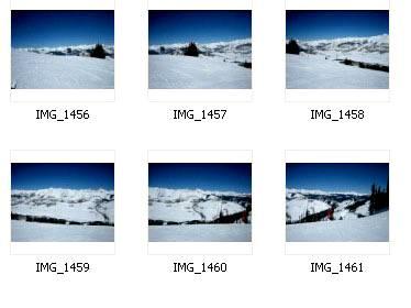 Шесть вспомогательных фото из которых мы создадим панораму.