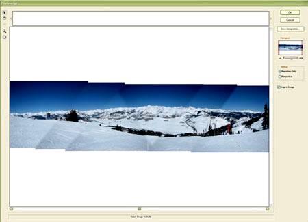 Просмотр через функцию «Reposition Only» (Только перемещение) на примере Photoshop CS5.
