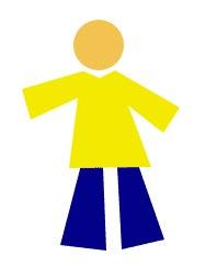 Продолжаем рисовать «человечка», добавляя ему ноги.