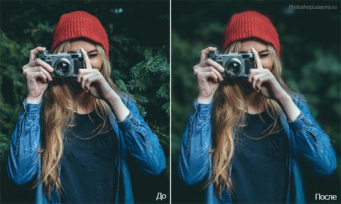 Изображение 1. Как размыть фон на фотографии в Adobe Photoshop