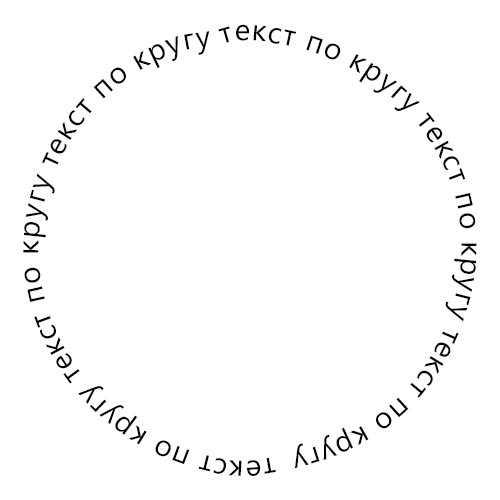 Изображение 1. Как расположить текст по кругу в Фотошопе