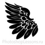 Кисти в виде крыльев ангела для Фотошопа - кисть 1
