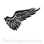 Кисти в виде крыльев ангела для Фотошопа - кисть 10