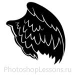 Кисти в виде крыльев ангела для Фотошопа - кисть 12