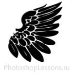 Кисти в виде крыльев ангела для Фотошопа - кисть 2