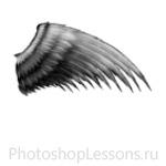 Кисти в виде крыльев ангела для Фотошопа - кисть 22
