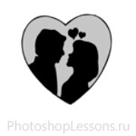 Кисти в виде сердечек для Фотошопа - кисть 1