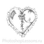 Кисти в виде сердечек для Фотошопа - кисть 16