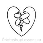 Кисти в виде сердечек для Фотошопа - кисть 20