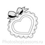 Кисти в виде сердечек для Фотошопа - кисть 6