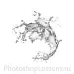 Кисти в виде брызг воды для Фотошопа - кисть 6