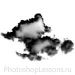 Кисти в виде облаков для Фотошопа - кисть 15