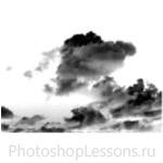 Кисти в виде облаков для Фотошопа - кисть 6