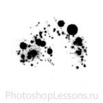 Кисти в виде брызг крови для Фотошопа - кисть 4