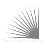 Кисти в виде лучей для Фотошопа - кисть 13